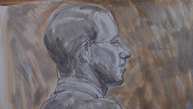 Sketch by Matthew Meadows: Alfie Meadows described the moment he was struck on the head