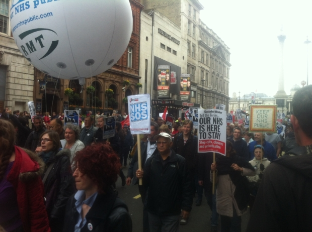 Thousands marched against government cuts & closures to London's hospitals