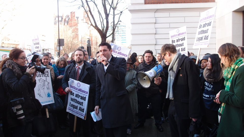 Solicitors joined barristers in their fight against cuts to legal aid and their fees