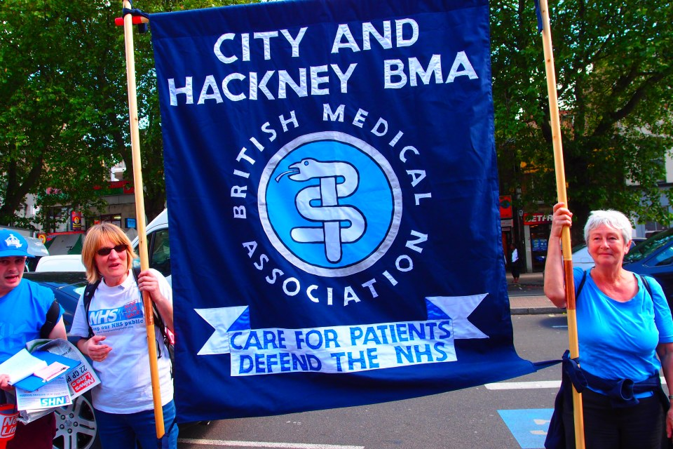 East London GPs marched through Tower Hamlets in protest over changes to their funding
