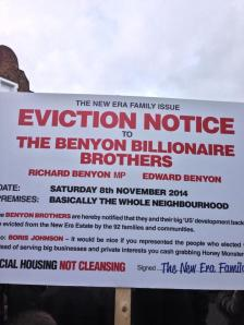 benyon eviction