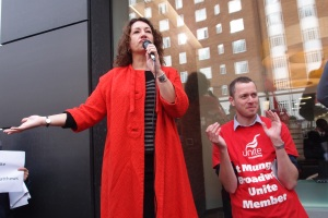 Unite regional officer Nicky Marcus and convenor Adam Lambert ran the campaign