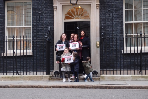 New Era tenants with Russell Brand in Downing Street